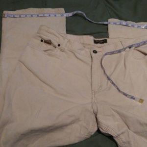 Eddie Bauer sz 18 cream corduroy pants